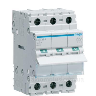 Модульный разрывной 3P выключатель нагрузки 0-1 на 125А Hager SBN399