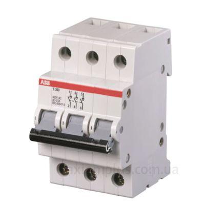 Модульный разрывной 3P выключатель нагрузки 0-1 на 80А ABB 2CDE283001R0080