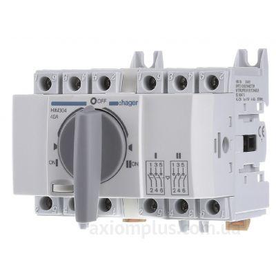 Модульный перекидной 3P рубильник 1-0-2 на 40А Hager HIM304