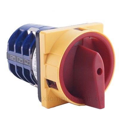 Кулачковый 3P поворотный переключатель 1-0-2 на 10А IEK BCS23-010-2