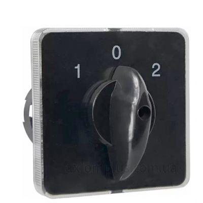 Кулачковый 2P поворотный переключатель 1-0-2 на 16А Аско-Укрем A0110010004