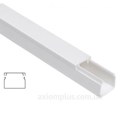 Настенный кабель канал 40х25мм белого цвета производства IEK - фото