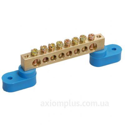 Шина (N) ШНИ-6х9-8-У2-C 100А (8 контактов контактов) (синий цвет) фото
