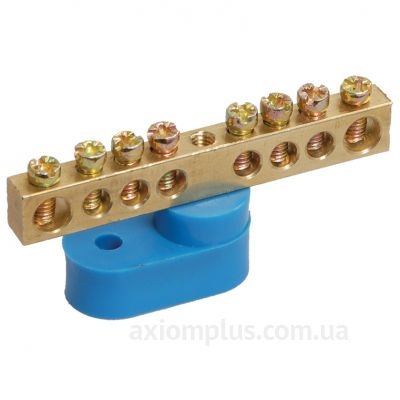 Шина (N) ШНИ-6х9-18-У1-C 100А (18 контактов контактов) (синий цвет) фото