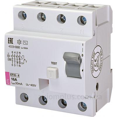 ETI EFI6-4 16/0,03 тип AC (6kA) фото