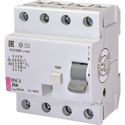 ETI EFI6-4 25/0,03 тип AC (6kA) фото