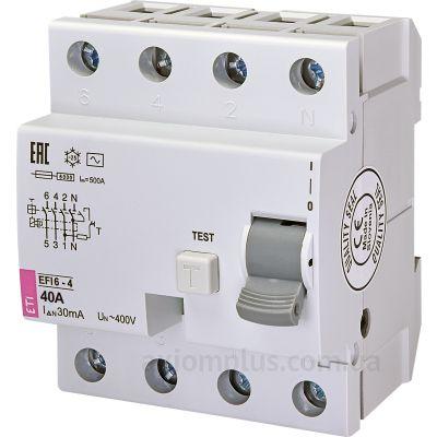 ETI EFI6-4 40/0,03 тип AC (6kA) фото