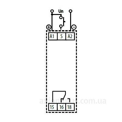 схема подключения реле времени CRM-81J/230V