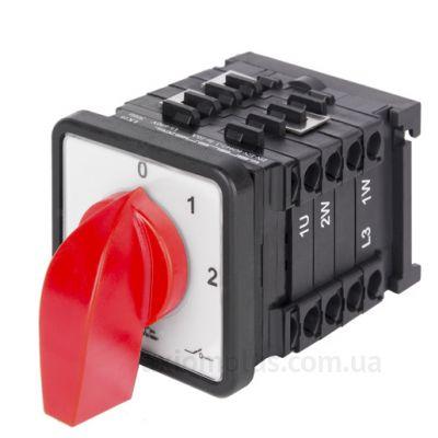 Кулачковый 3P поворотный переключатель 1-0-2 на 16А E.Next 8327-200