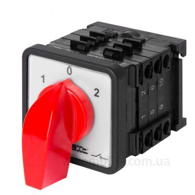 Кулачковый 3P поворотный переключатель 1-0-2 на 25А E.Next 8437-200