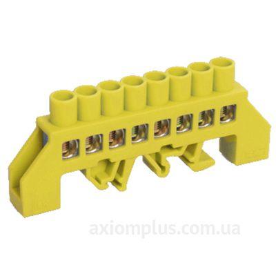 Шина (N) ШНИ-8х12-10-КС-Ж 125А (10 контактов контактов) (желтый цвет) фото