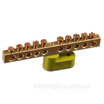 Шина (PE) ШНИ-6х9-8-У1-Ж 100А (8 контактов контактов) (желтый цвет) фото