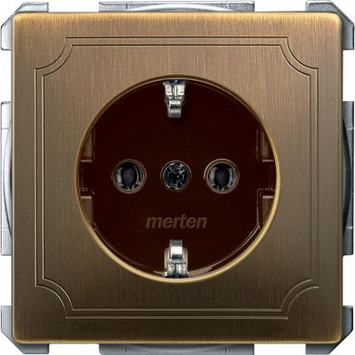 Фото Schneider Electric серии Merten Artec/Antik MTN2401-4143 цвета античной латуни