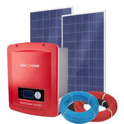 Солнечная электростанция на 1кВт из 4шт фотомодулей 6,5м² с инвертором LogicPower LP-GS-HSI 1000W 48v МРРТ PSW