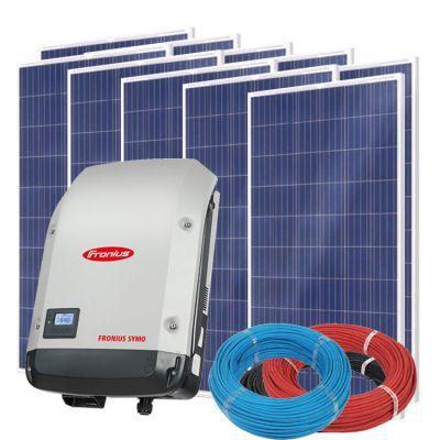 Солнечная электростанция на 5кВт из 22шт панелей 37,4м² с инвертором FRONIUS SYMO 5.0-3-M