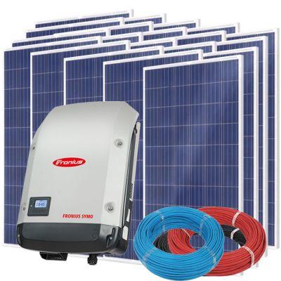 Солнечная электростанция на 20кВт из 84шт панелей 142,8м² с инвертором FRONIUS SYMO 20.0-3-M