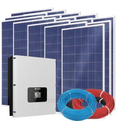 Солнечная электростанция на 12кВт из 45шт фотомодулей 76,5м² с инвертором HUAWEI SUN2000-12KTL