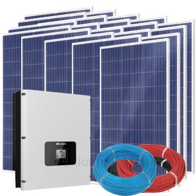 Солнечная электростанция на 17кВт из 64шт панелей 108,8м² с инвертором HUAWEI SUN2000-17KTL