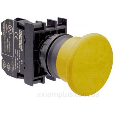 Кнопка EMAS (B100MS) желтого цвета