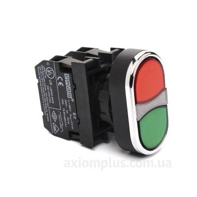 Кнопка EMAS (B102K20KY) красно-зеленого цвета
