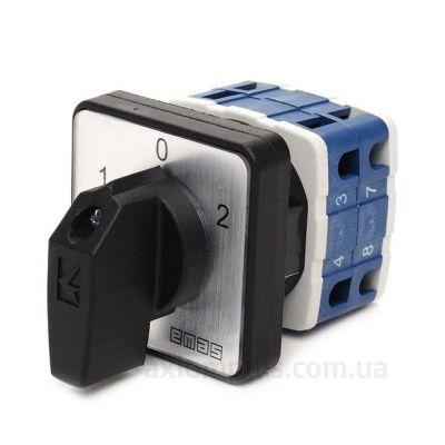 Кулачковый 2P поворотный переключатель 1-0-2 на 10А EMAS PSA010KD234S