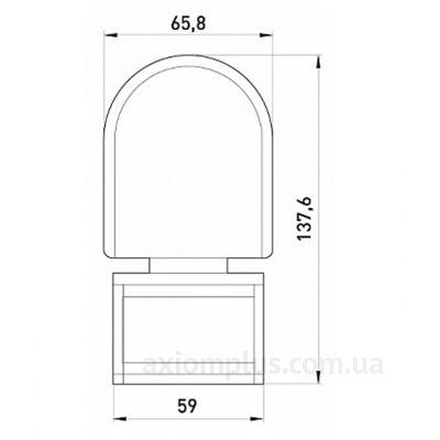 Габаритные и установочные размеры e.sensor.pir.10F.white