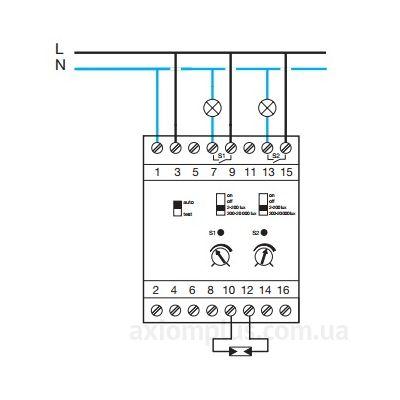 Схема электрических соединений реле EE202