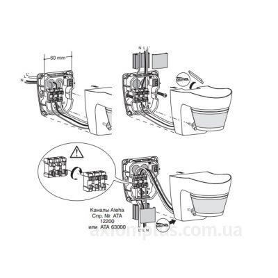 Схема подключения датчика Hager EE821