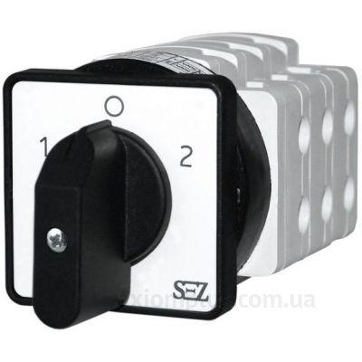 Кулачковый поворотный переключатель 1-0-2 на 25А SEZ S 25JD4251XM1