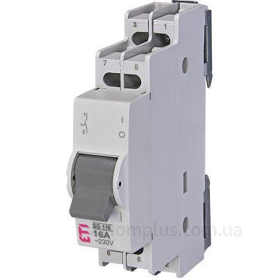 Модульный разрывной 2P выключатель нагрузки 0-1 на 16А ETI 760121104