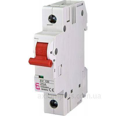 Модульный разрывной 1P выключатель нагрузки 0-1 на 25А ETI 2423122