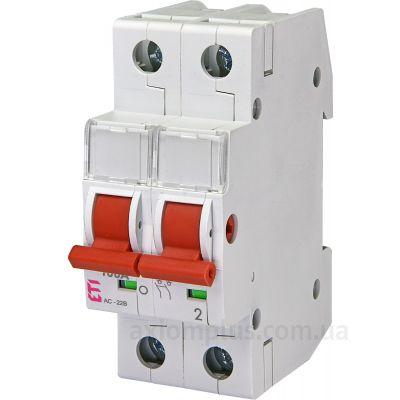 Модульный разрывной 2P выключатель нагрузки 0-1 на 100А ETI 2423216