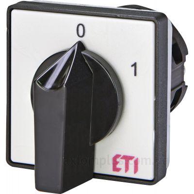Кулачковый 2P поворотный переключатель 0-1 на 25А ETI 4773010
