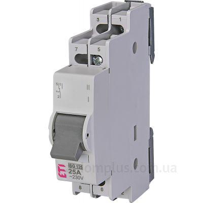 Модульный перекидной 2P выключатель нагрузки 1-2 на 25А ETI 760322101
