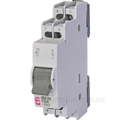 Модульный перекидной 1P выключатель нагрузки 1-0-2 на 16А ETI 760611102