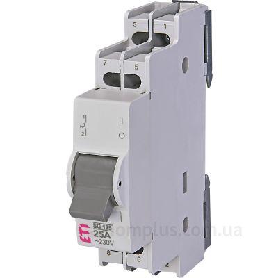 Модульный разрывной 3P выключатель нагрузки 0-1 на 25А ETI 760232105