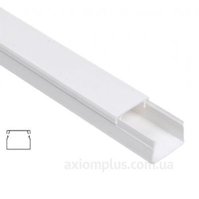 Настенный кабель канал 12х12мм белого цвета производства IEK - фото