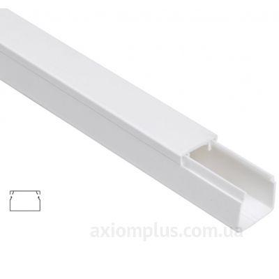 Настенный кабель канал 16х16мм белого цвета производства IEK - фото