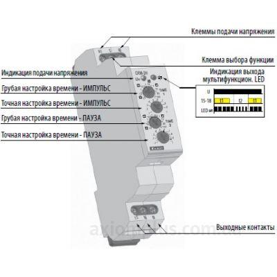 Конструкция реле времени CRM-2H/230V устройство