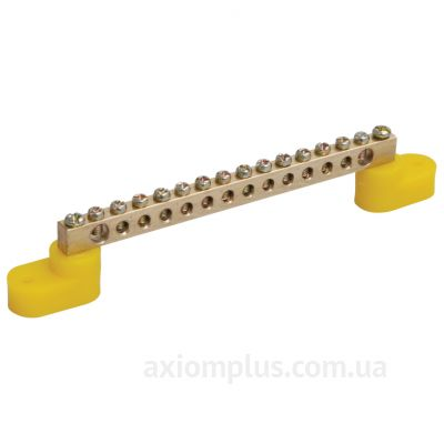 Шина (PE) ШНИ-6х9-14-У2-Ж 100А (14 контактов контактов) (желтый цвет) фото