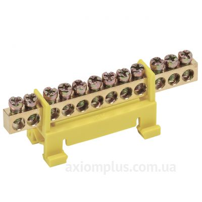 Шина (PE) ШНИ-6х9-12-С-Ж 100А (12 контактов контактов) (желтый цвет) фото