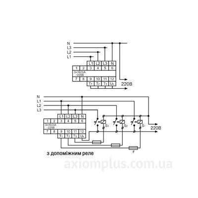 Схема подключения переключателя фаз АПФ-451