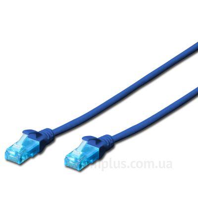 Digitus (DK-1511-020/B) - RJ-45 UTP cat.5e PVC 2м синий патч корд - фото