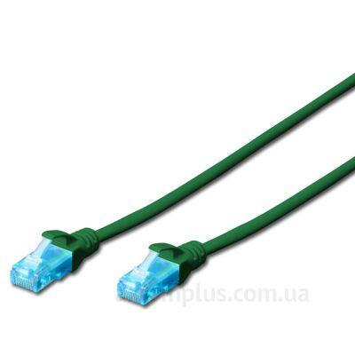 Digitus (DK-1511-020/G) - RJ-45 UTP cat.5e PVC 2м зеленый патч корд - фото