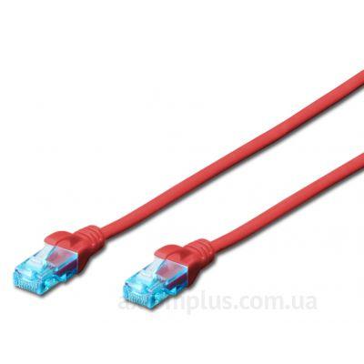 Digitus (DK-1511-020/R) - RJ-45 UTP cat.5e PVC 2м красный патч корд - фото