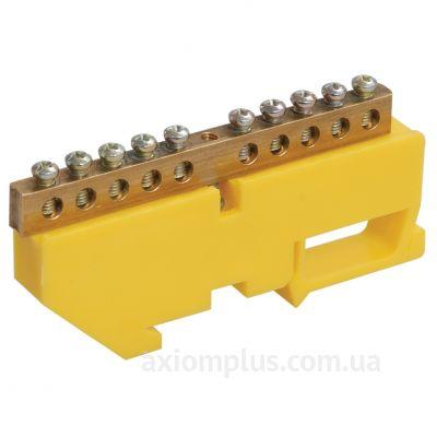 Шина (N) ШНИ-6х9-10-Д-Ж 100А (10 контактов контактов) (желтый цвет) фото