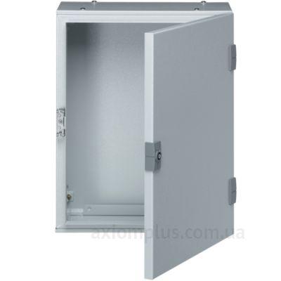 Фото серый монтажный шкаф Hager ORION Plus FL110A габариты 500х300х200мм