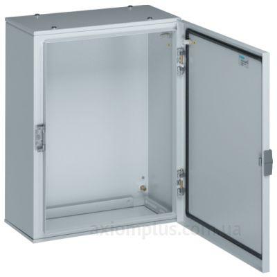 Фото серый монтажный шкаф Hager ORION Plus FL118A габариты 650х400х250мм