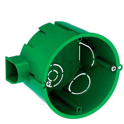 Зеленый подрозетник Schneider Electric Multifix