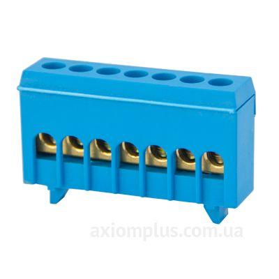 Шина (N) e.bsi.pro.1.7 63А (7 контактов контактов) (синий цвет) фото